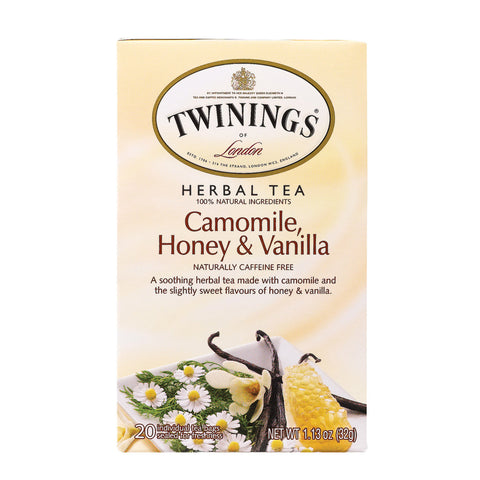 Twining's Tea Herbal Tea - Chamomile, Honey And Vanilla - Case Of 6 - 20 Bags