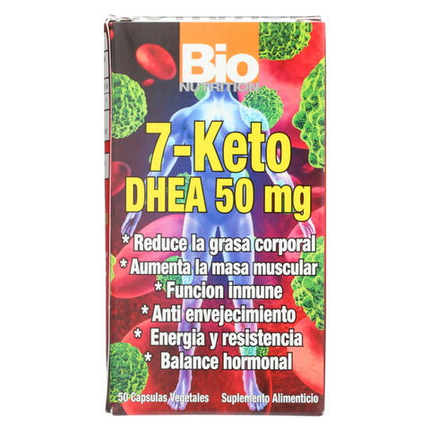 Bio Nutrition 7 Keto Dhea 50 Mg - 50 Vegetarian Capsules - The Green Life