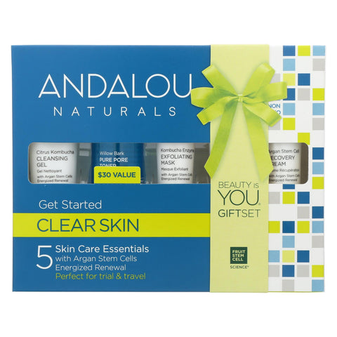 Andalou Naturals Get Started Clarifying 5 Piece Kit - 1 Kit - The Green Life - 1