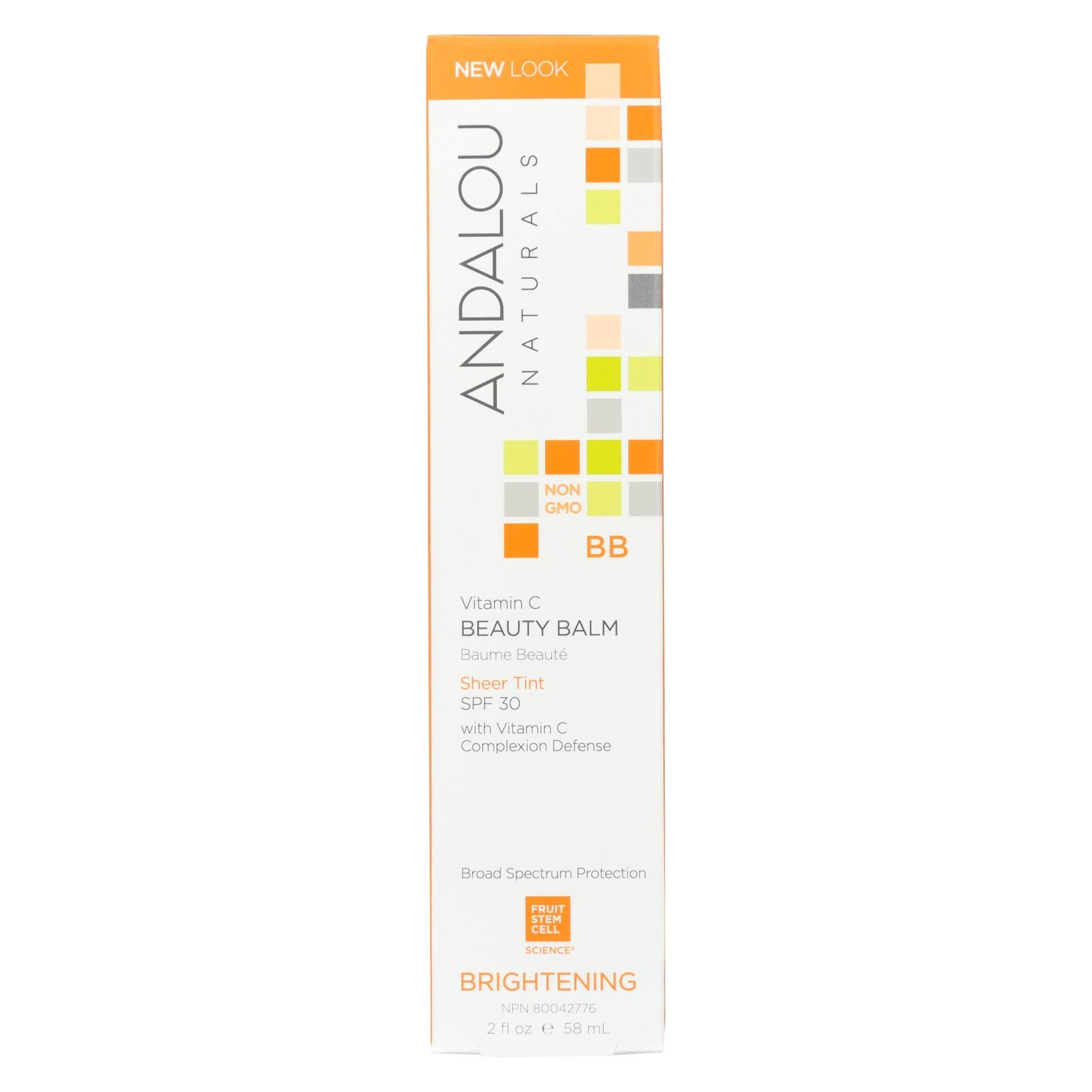Andalou Naturals Beauty Balm Sheer Tint With Spf 30 Brightening - 2 Oz HG1162601