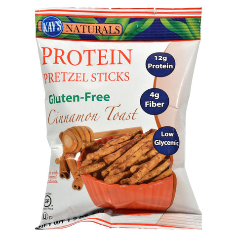 Kay's Naturals Protein Pretzel Sticks Cinnamon Toast - 1.2 Oz - Case Of 6