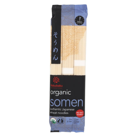 Hakubaku 100% Organic Noodles - Somen - Case Of 8 - 9.52 Oz