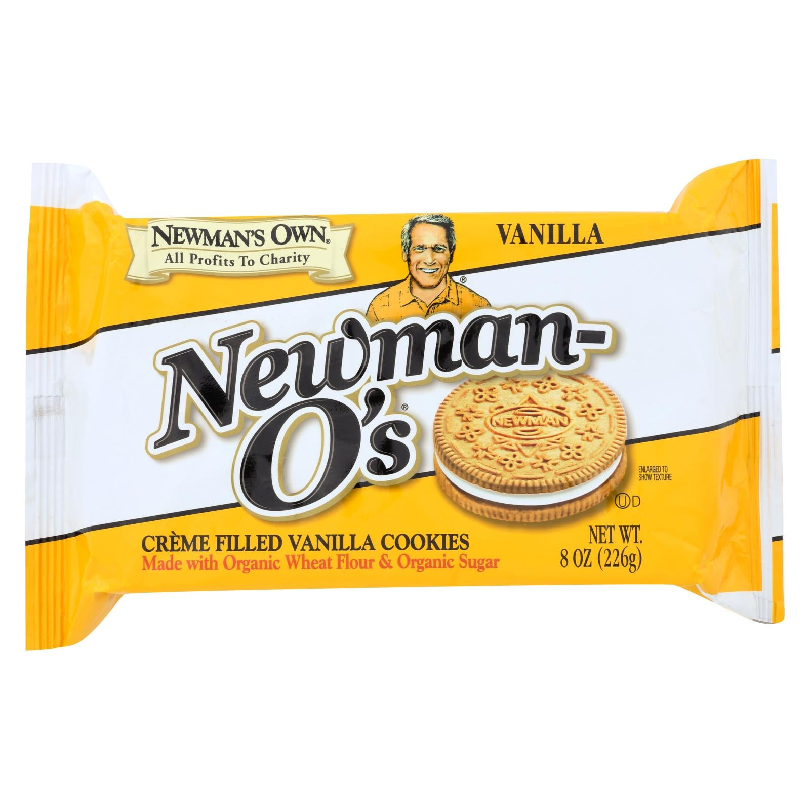 Newman's Own Organics Creme Filled Cookies - Vanilla - Case Of 6 - 8 Oz. HG1193630
