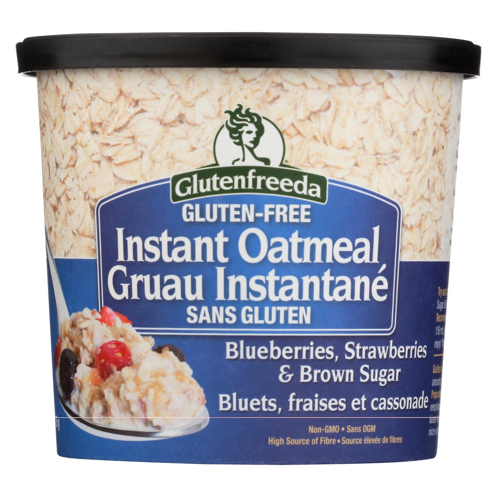 Gluten Freeda Instant Oatmeal Cup - Blueberry, Strawberries And Brown Sugar - Case Of 12 - 2.64 Oz. HG1231844