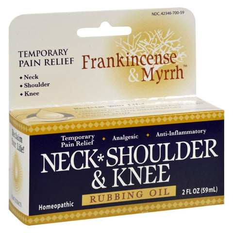 Frankincense And Myrrh Neck, Shoulder, And Knee Oil - 2 Fl Oz