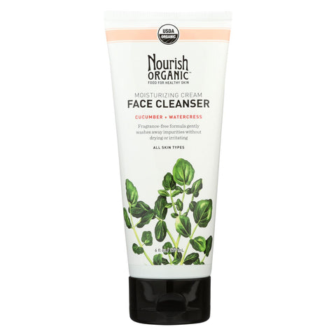 Nourish Organic Face Cleanser - Moisturizing Cream Cucumber And Watercress - 6 Oz