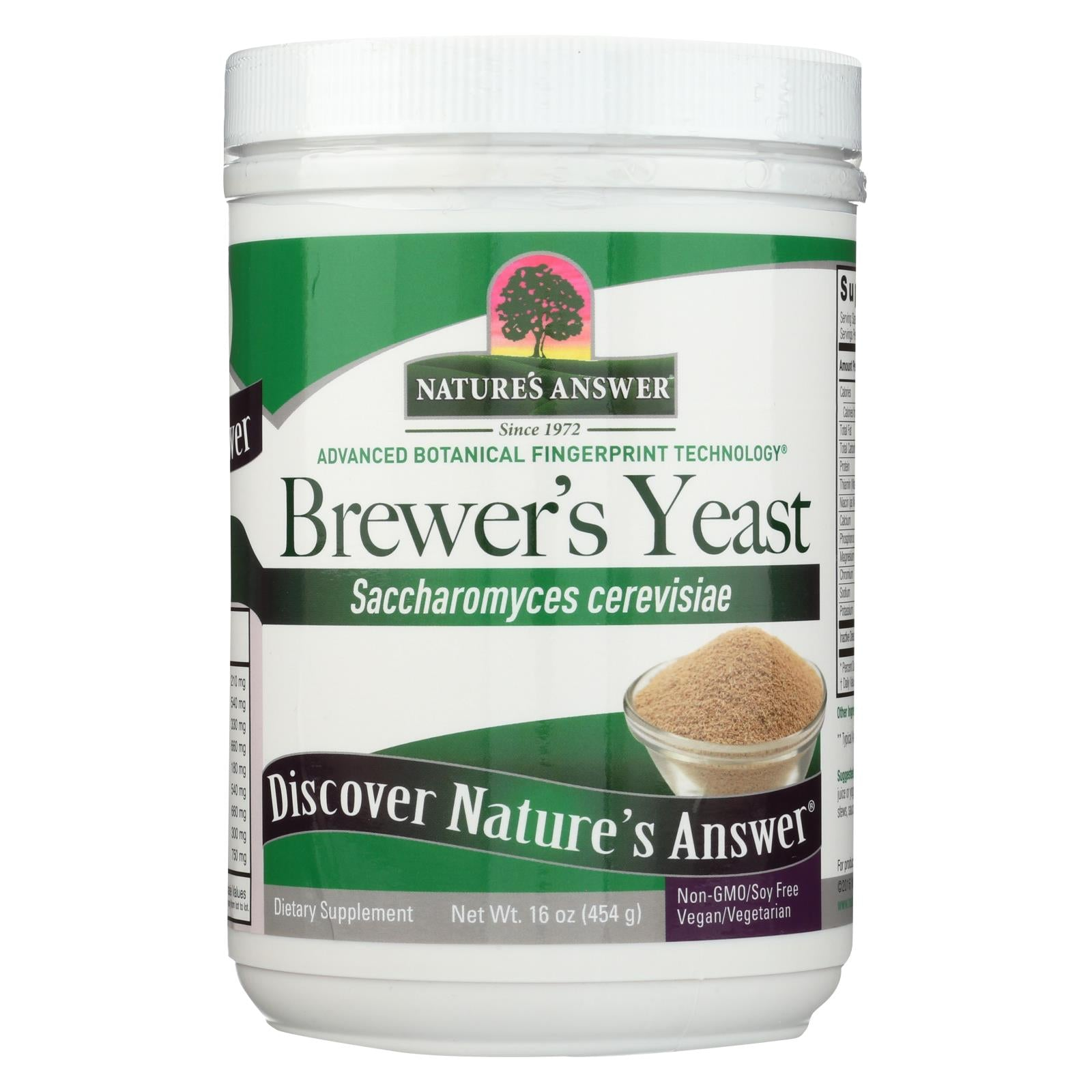Nature's Answer Brewers Yeast - Gluten Free - 16 Oz HG1506203