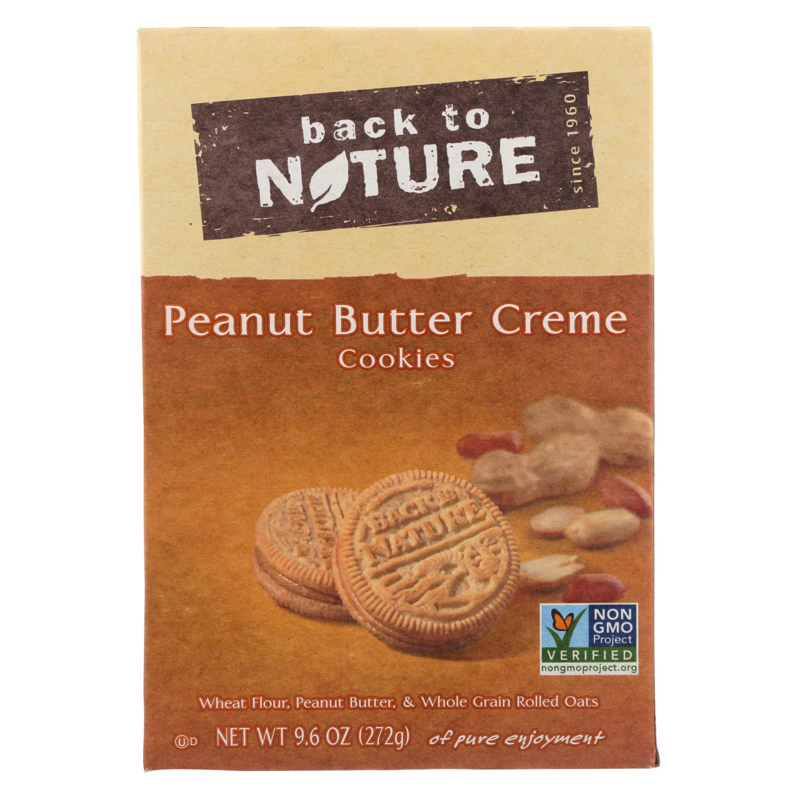 Back To Nature Creme Cookies - Peanut Butter - Case Of 6 - 9.6 Oz. HG1518356