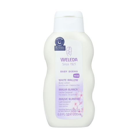 Weleda Body Lotion - Baby Derma - White Mallow - 6.8 Oz