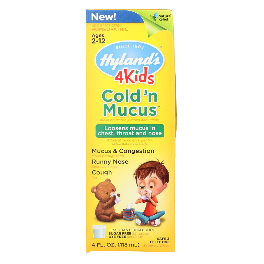 Hylands Homepathic Cold 'n Mucus - 4 Kids - 4 Fl Oz - The Green Life