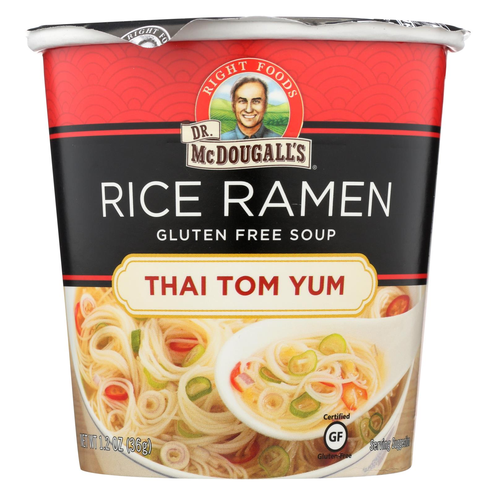 Dr. Mcdougall's Thai Tom Yum Asian Soup Cup - Case Of 6 - 1.2 Oz. HG1561372