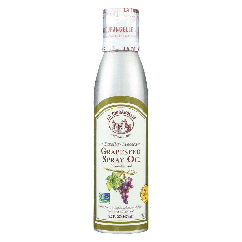 La Tourangelle Grapeseed Spray Oil - Case Of 6 - 5 Fl Oz.