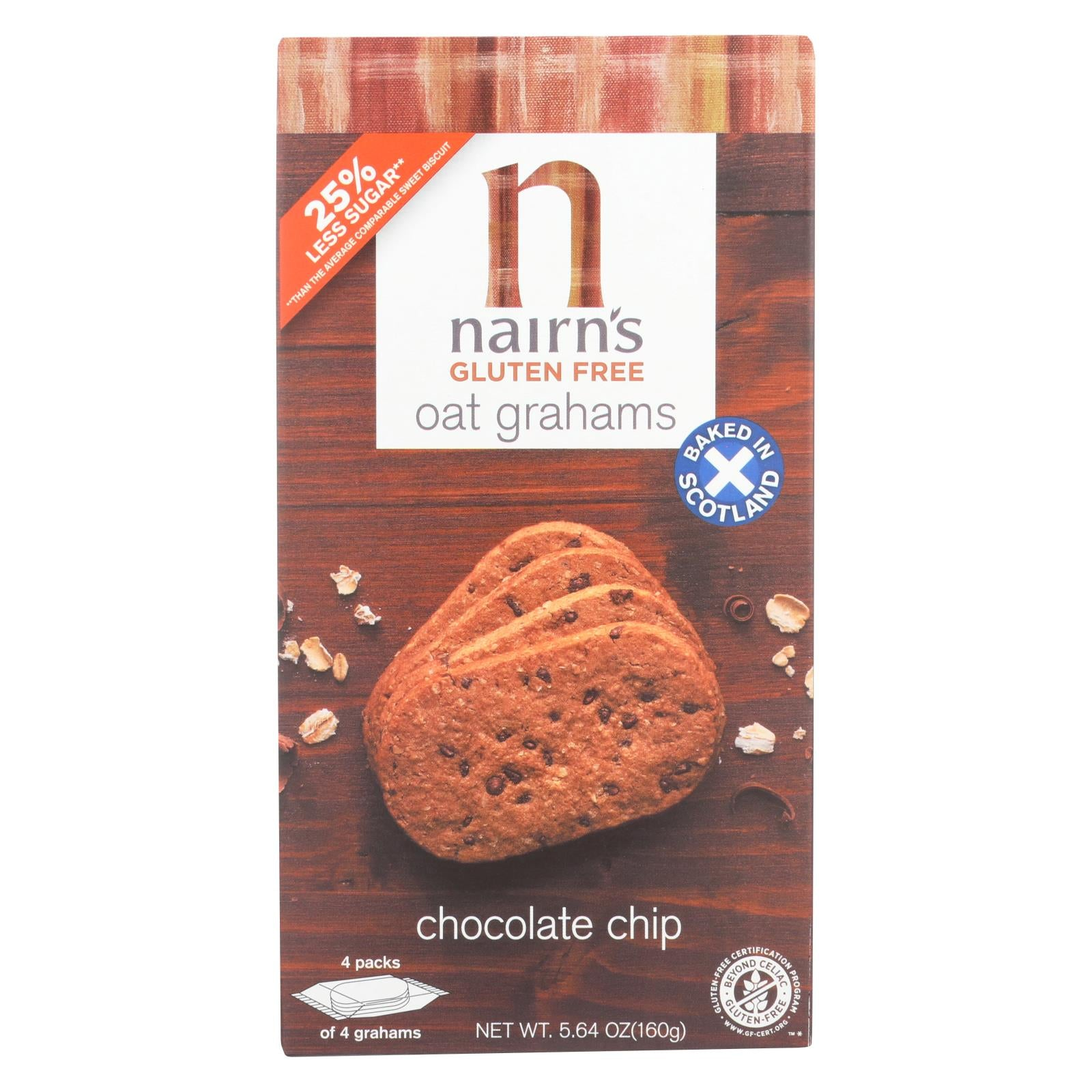 Nairn's Oatmeal And Chocolate Chip - Chocolate - Case Of 12 - 5.64 Oz. HG1566983