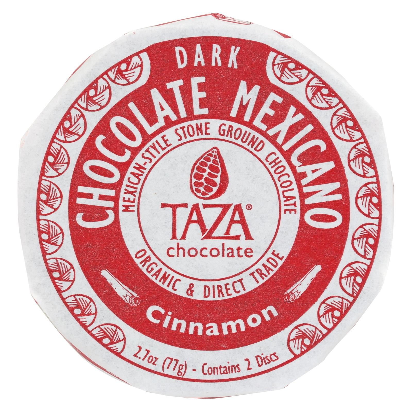 Taza Chocolate Organic Chocolate Mexicano Discs 50 Percent Dark Chocolate Cinnamon 2.7 Oz Case Of 12 HG1575109