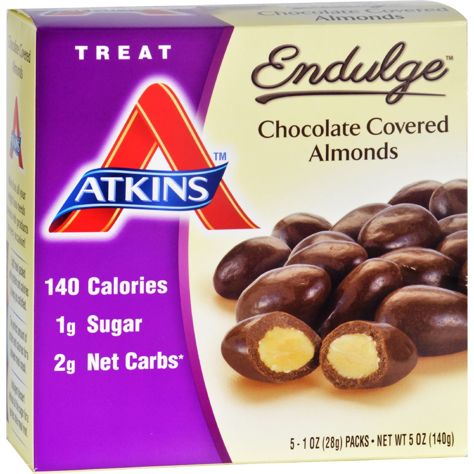 Atkins Endulge Pieces - Chocolate Covered Almonds - 5 Ct - 1 Oz HG1583590