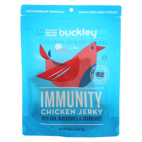 Buckley Jerky Treats - Chicken - Case Of 6 - 5 Oz.