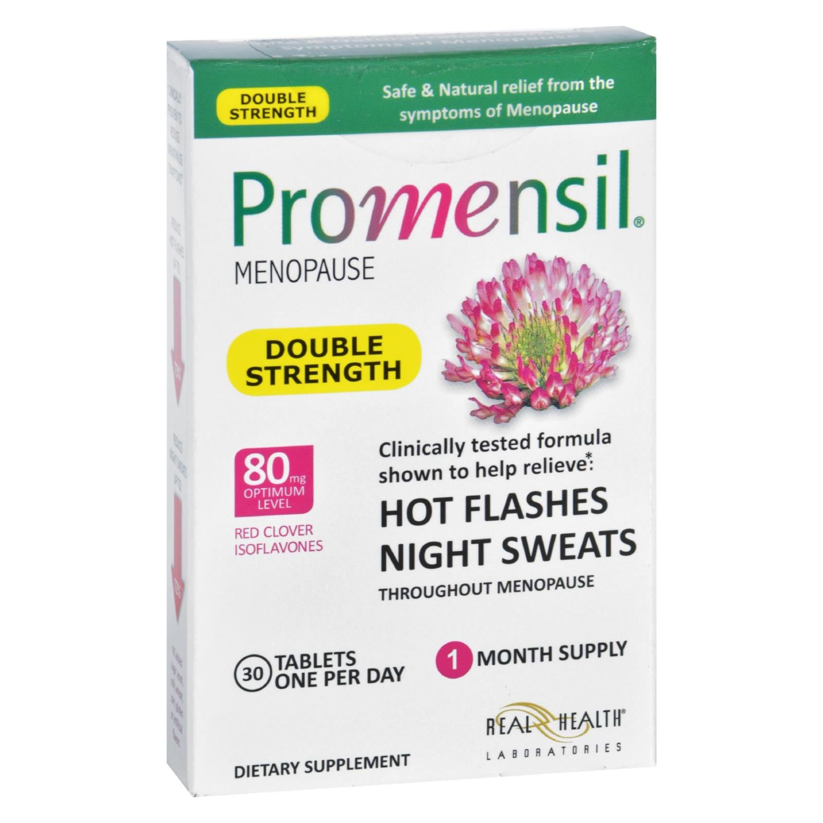 Promensil Menopause - Double Strength - Relief Hot Flashes Night Sweats - 30 Tablets HG1637230