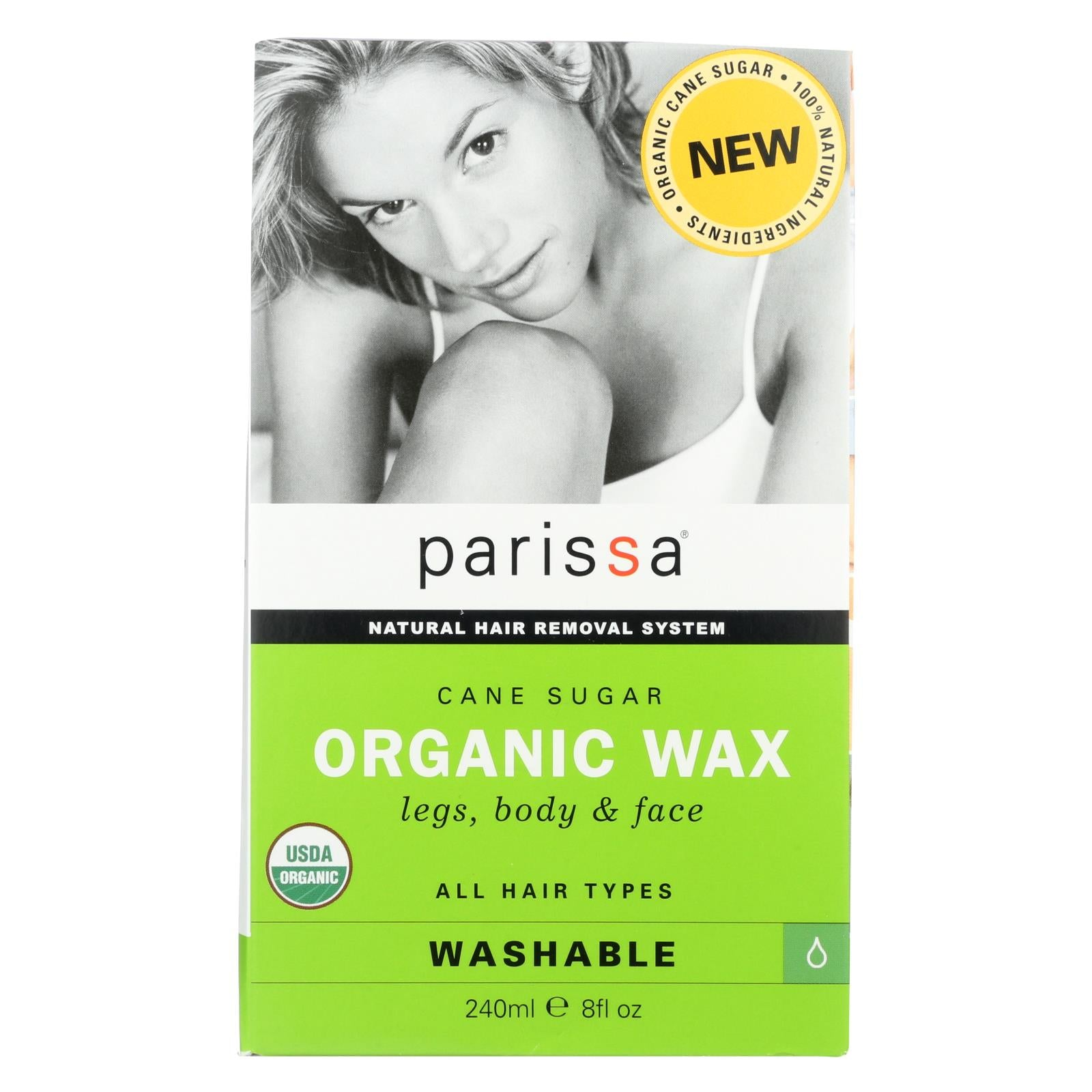Parissa Hair Removal Wax - Organic - Cane Sugar - 8 Oz HG1638949