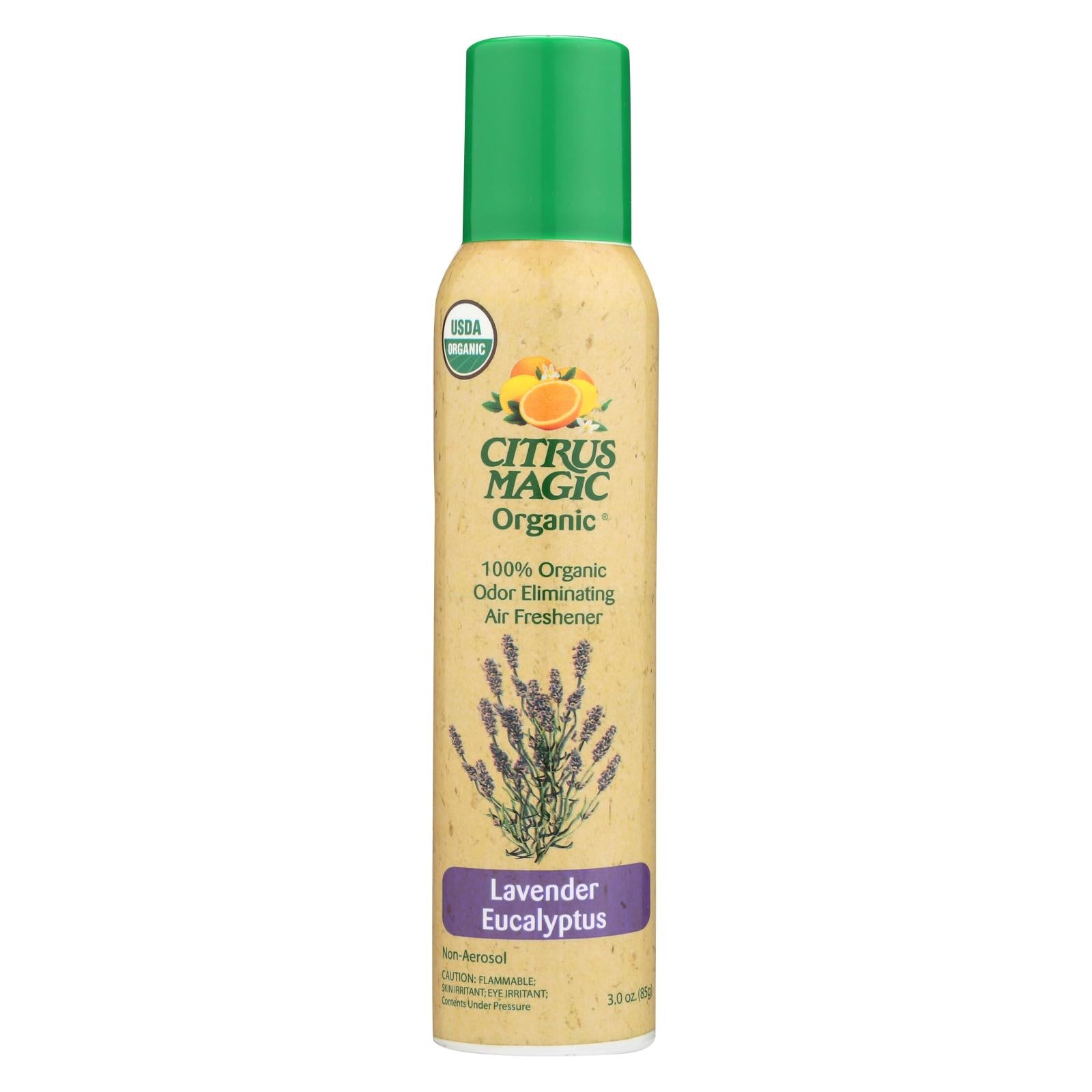Citrus Magic Air Freshener Odor Eliminating Spray Lavender Eucalyptus 3.5 Oz HG1688662