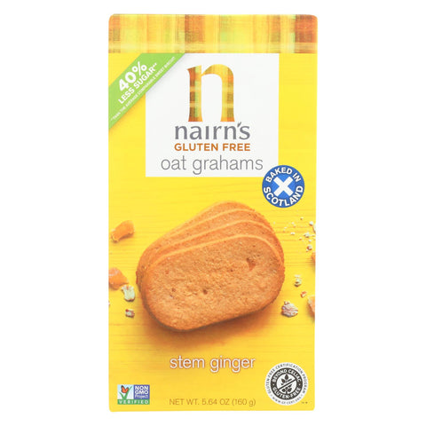 Nairn's Oatmeal Ginger Cookie Gluten - Ginger - Case Of 12 - 5.64 Oz.