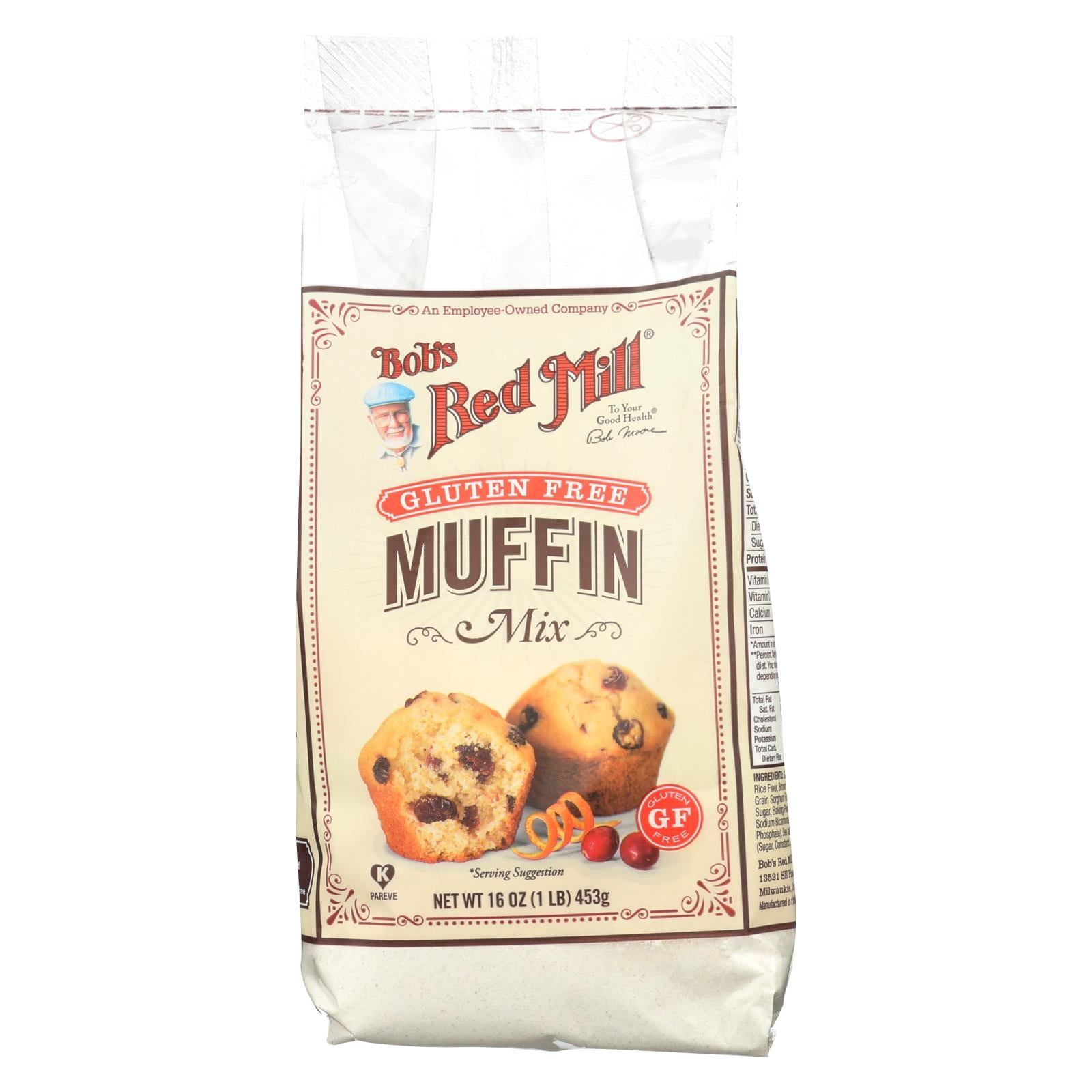 Bob's Red Mill Gluten Free Muffin Mix - 16 Oz - Case Of 4 HG1738475