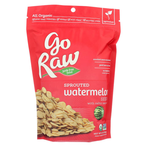 Go Raw - Organic Sprouted Seeds - Watermelon - Case Of 8 - 10 Oz.