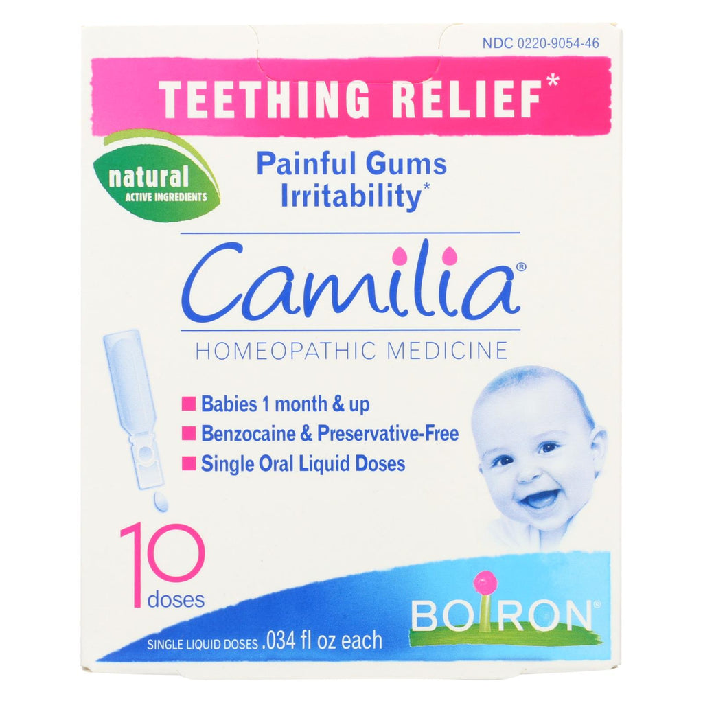 Boiron Camilia - Teething Relief - 10 Doses - The Green Life