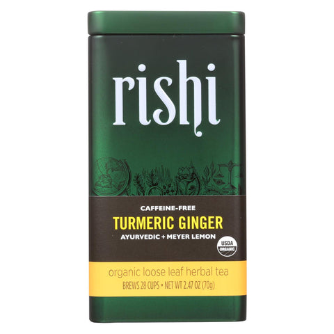 Rishi Tea - Turmeric Ginger - Caffeine Free - Case Of 6 - 2.47 Oz