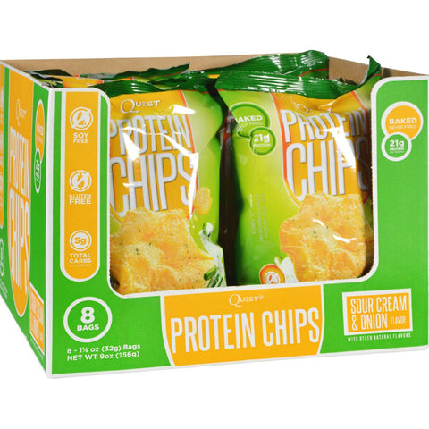 Quest Chips - Sour Cream And Onion - Case Of 8 - 1.125 Oz.