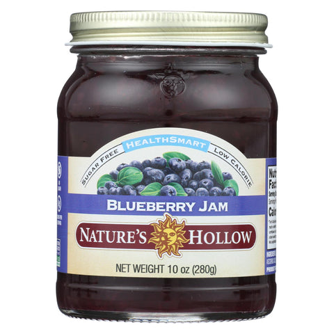Nature's Hollow Preserves - Blueberry Sugar Free - Case Of 6 - 10 Oz