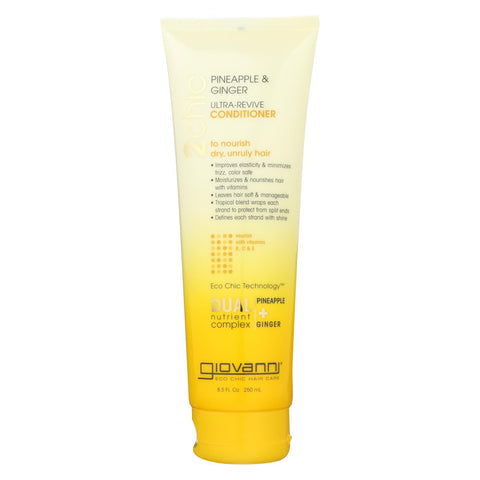Giovanni Hair Care Products Conditioner - Pineapple And Ginger - Case Of 1 - 8.5 Oz.