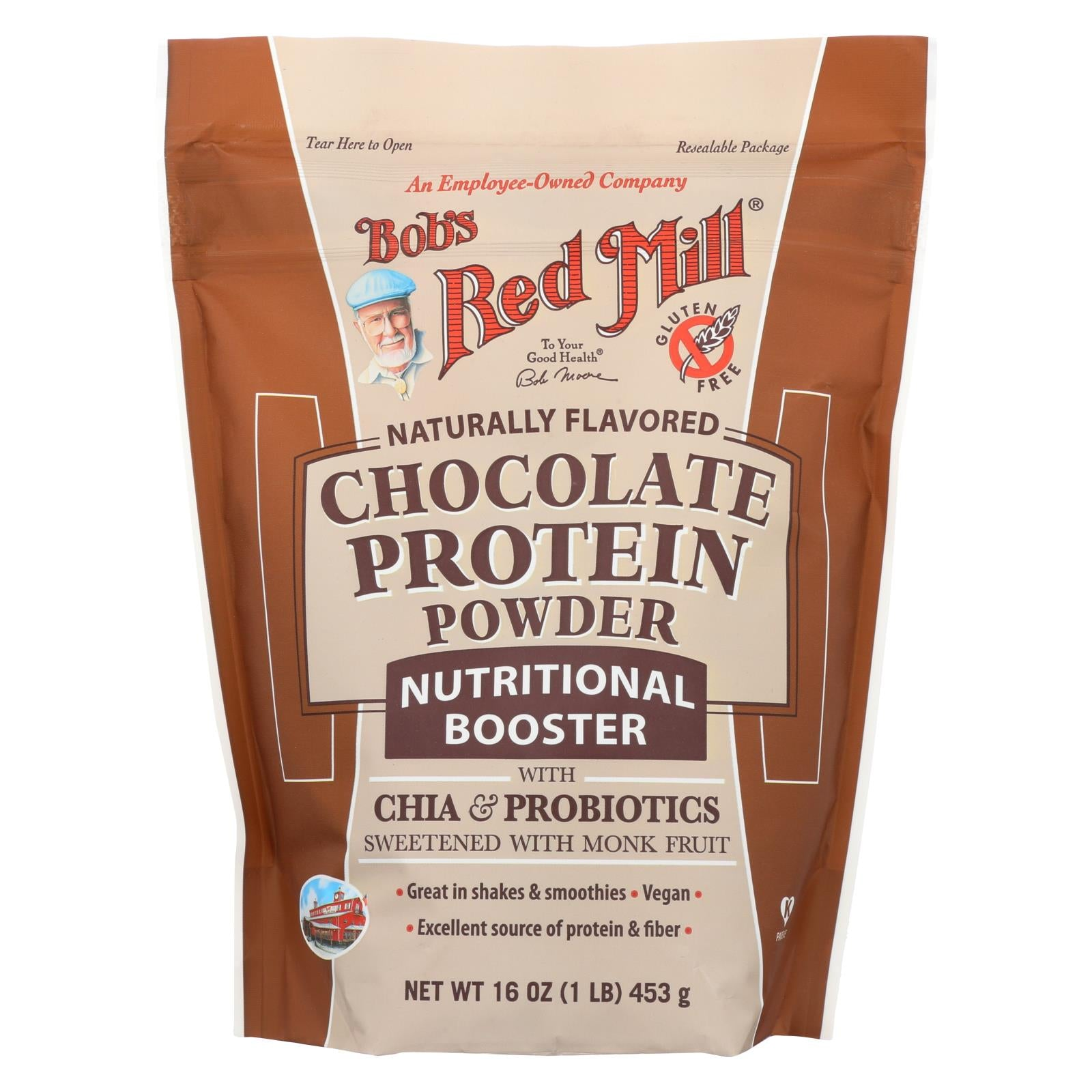 Bob's Red Mill Chocolate Protein Powder Nutritional Booster - 16 Oz - Case Of 4 HG1808799