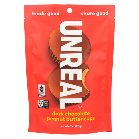 Unreal Dark Chocolate Peanut Butter Cups - 6 Bags