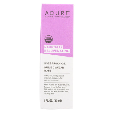 Acure - Argan Oil - Radically Rejuvenating Rose - 1 Fl Oz