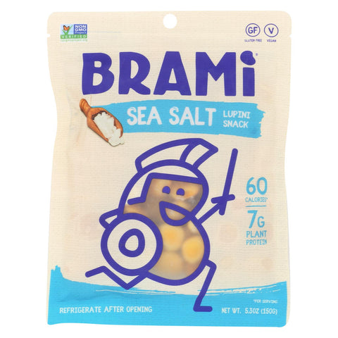 Brami Lupini Snack - Sea Salt - Case Of 8 - 5.3 Oz.