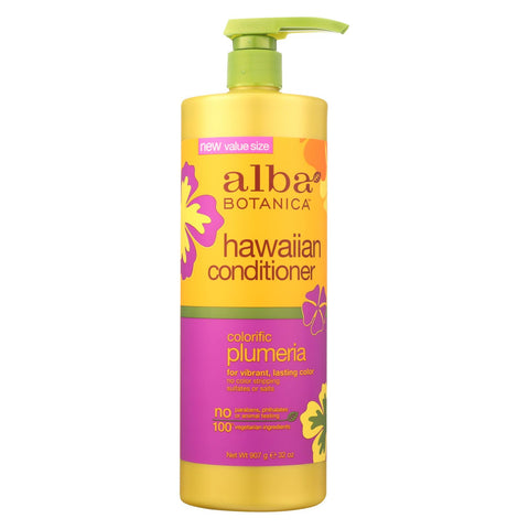 Alba Botanica Hawaiian Conditioner - Colorific Plumeria - 32 Oz