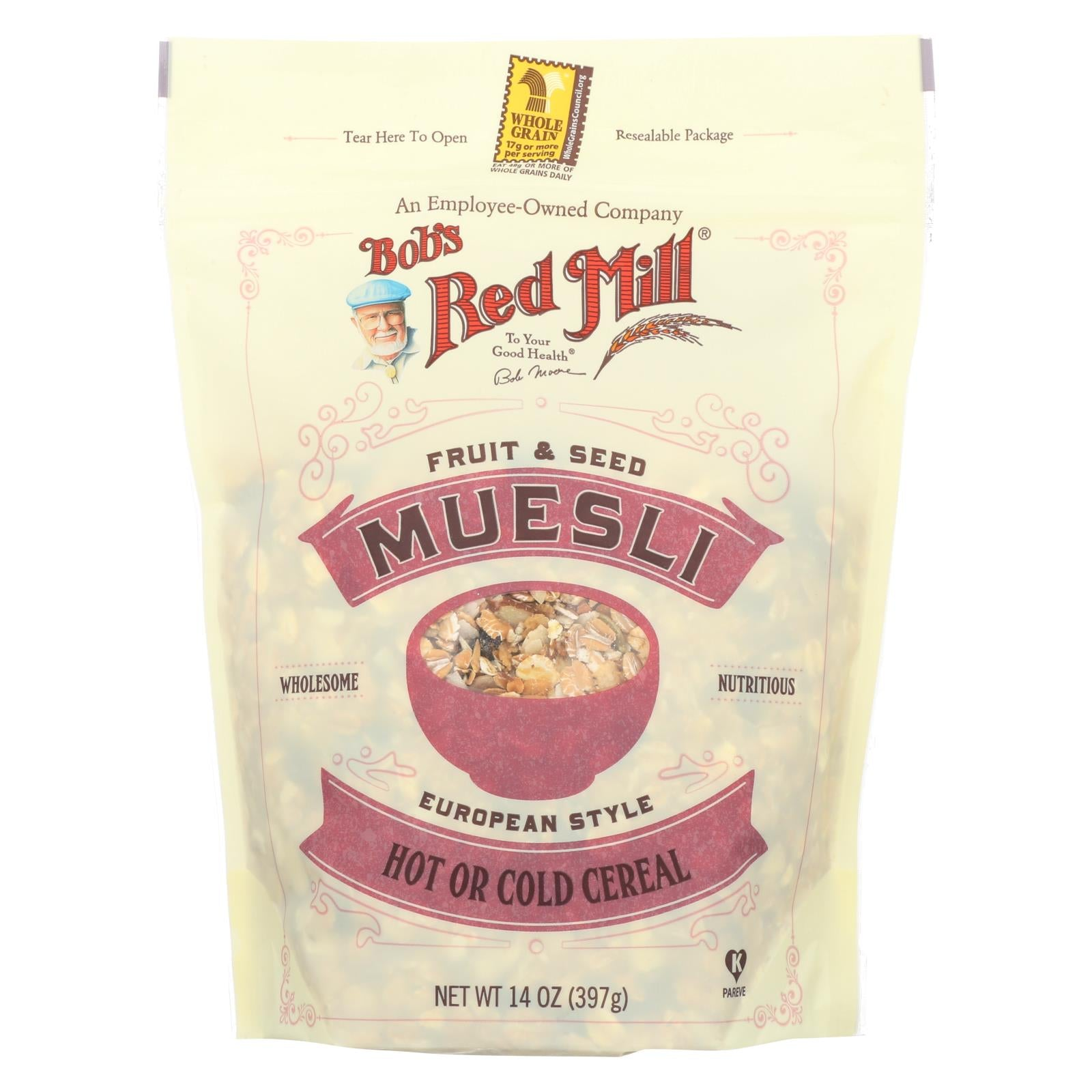 Bob's Red Mill Cereal - Fruit & Seed Muesli - Case Of 4 - 14 Oz HG1986231
