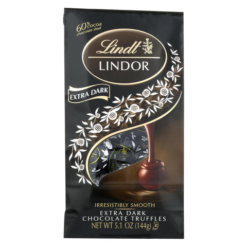 Lindt - Truffles X-drk Chocolate Bag - Case Of 6-5.1 Oz