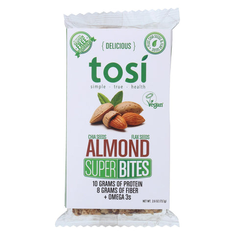 Tosi Health Superbites - Almond - Case Of 12 - 2.6 Oz.