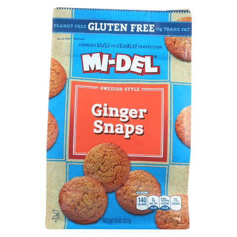 Midel Cookies - Ginger Snaps - Case Of 8 - 8 Oz