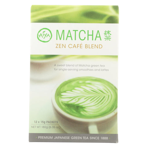 Aiya Tea - Stick - Matcha Zen Cafe - Case Of 8 - 12 Count