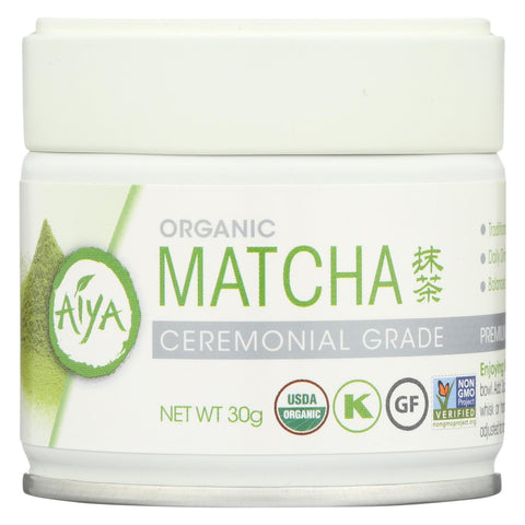 Aiya Tea - Organic Matcha - Ceremonial Grade - Case Of 6 - 30 Grm
