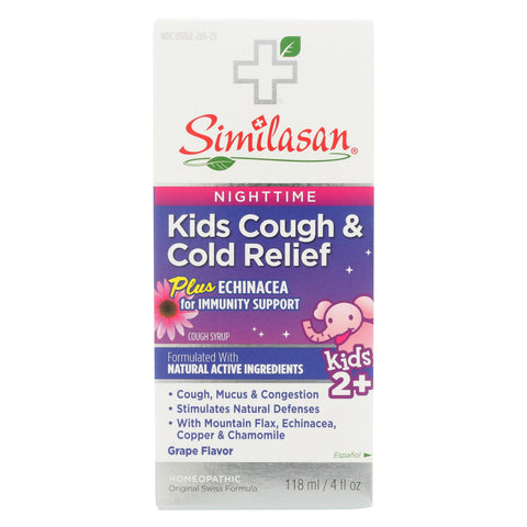 Similasan Kid's Cold Syrup - Fever Relief - 4 Fl Oz