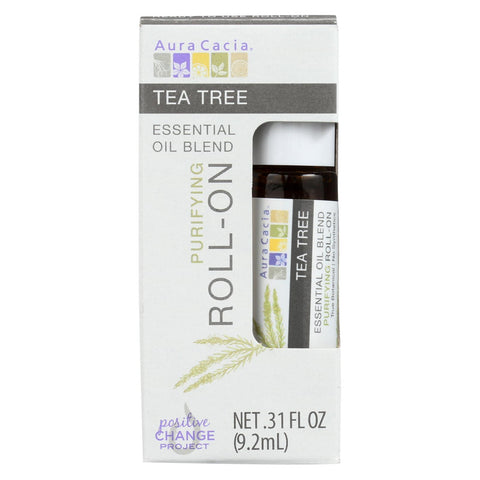 Aura Cacia - Roll On Essential Oil - Tea Tree - Case Of 4 - .31 Fl Oz