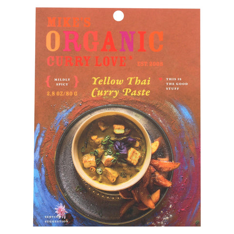Mike's Organic Curry Love - Organic Curry Paste - Yellow Thai - Case Of 6 - 2.8 Oz.