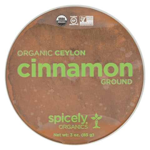 Spicely Organics - Organic Cinnamon - Ground - Case Of 2 - 3 Oz.
