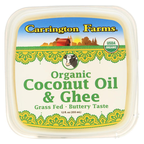 Carrington Farms Coconut Oil - Buttery Taste - Case Of 6 - 12 Oz.