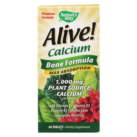 Nature's Way - Alive! Calcium Bone Formula - Max Absorption - 60 Tablets