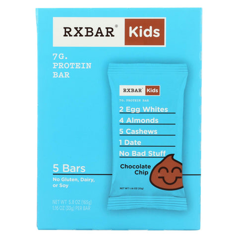 Rxbar - Kids Protein Bar - Chocolate Chip - Case Of 6 - 5-1.16 Oz.