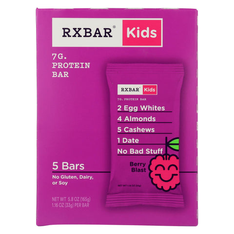 Rxbar - Kids Protein Bar - Berry Blast - Case Of 6 - 5-1.16 Oz.